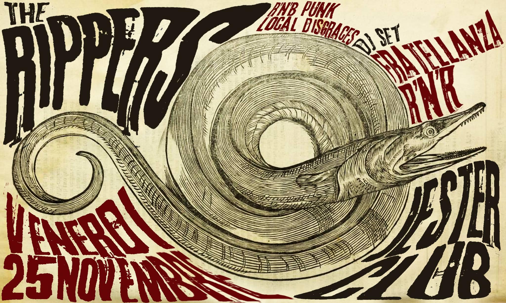 THE RIPPERS live @ Jester club (CA) – FRATELLANZA R'N'ROLL dj set